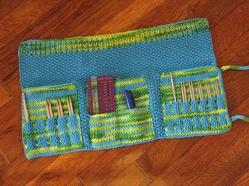 Needle Case, Free pattern, Ravelry download.   Knitting ...