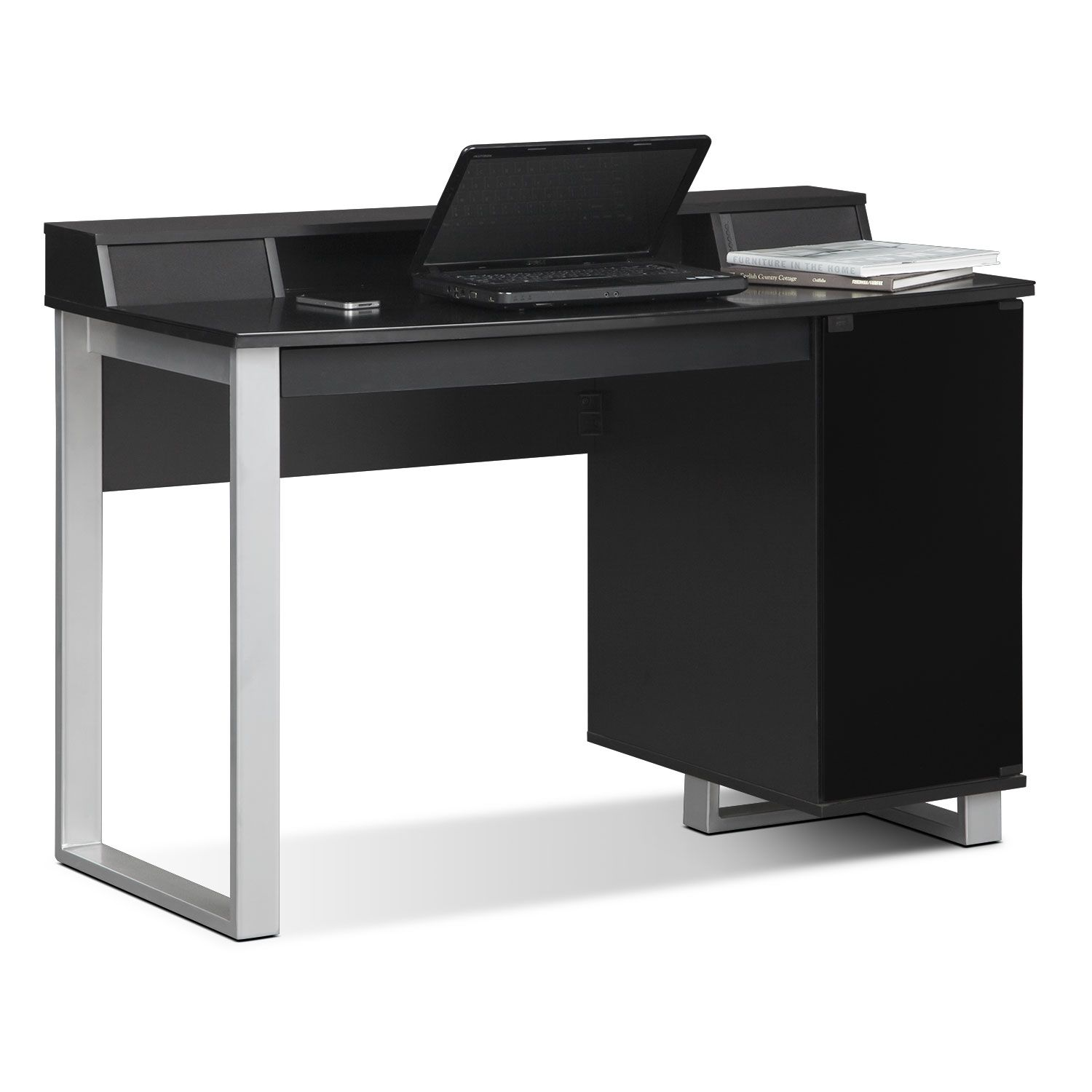 home office furniture - pacer desk with sound - black | gasping