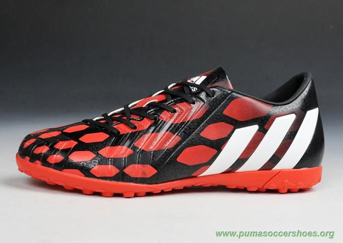 457b1860296a Black Running White Infrared ADIDAS Predator Instinct TF Mens Indoor Soccer  Shoes