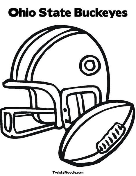 Ohio State Buckeyes Coloring Page Sports Coloring Pages Football Coloring Pages Coloring Pages For Kids