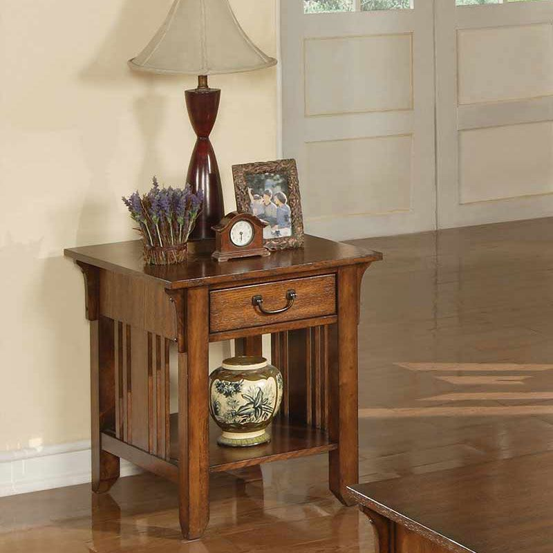 Zahara End Table In Mission Oak | Barrs Furniture | The Best Online  Furniture Store