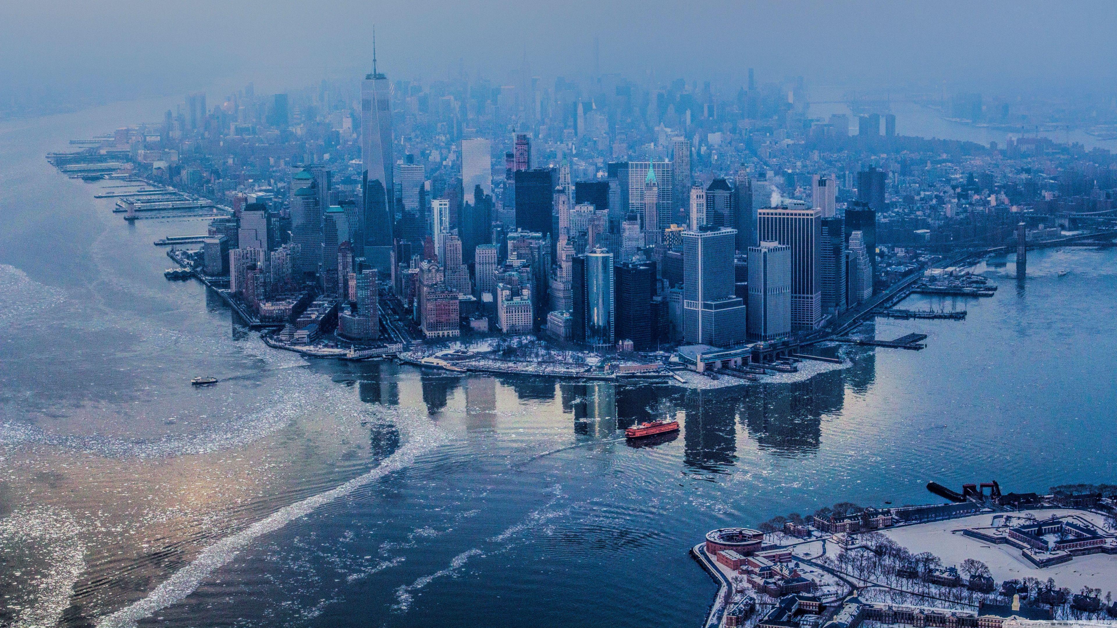New York City Aerial View 3840 X 2160 New York Wallpaper New York City Images Manhattan New York