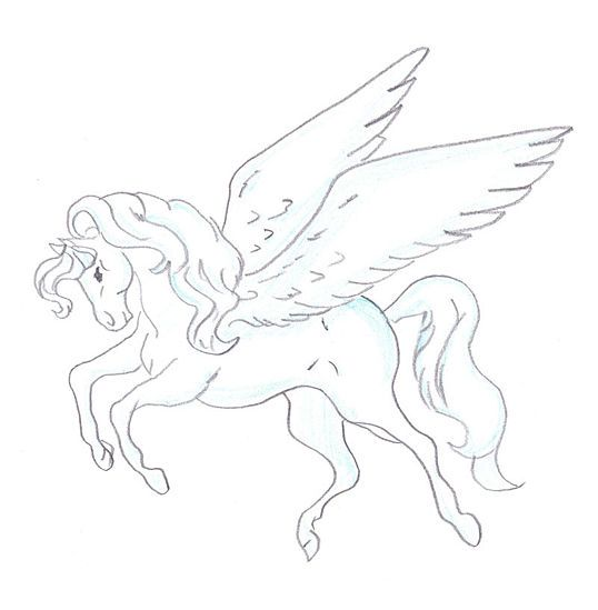 How to Draw a Pegasus: 15 Steps (with Pictures) - wikiHow | coloring ...