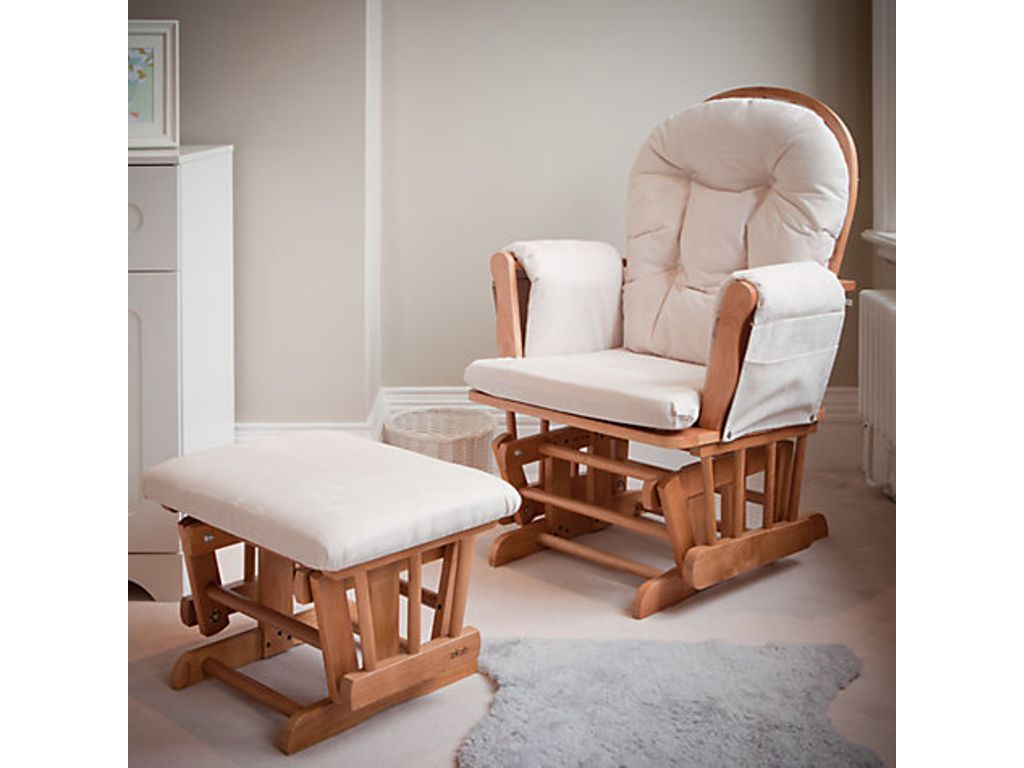 Magnificent Kub Haywood Glider Nursing Chair And Footstool Natural Cjindustries Chair Design For Home Cjindustriesco