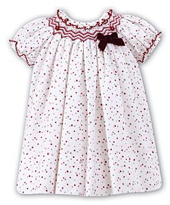 075bf72a1c5 Beautiful spotted baby girl dress by Sarah Louise. Lovely cute winter dress