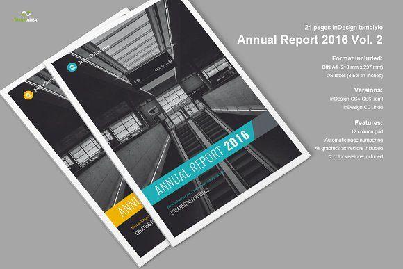 Annual Report 2016 Vol. 2 by Imagearea on @creativemarket