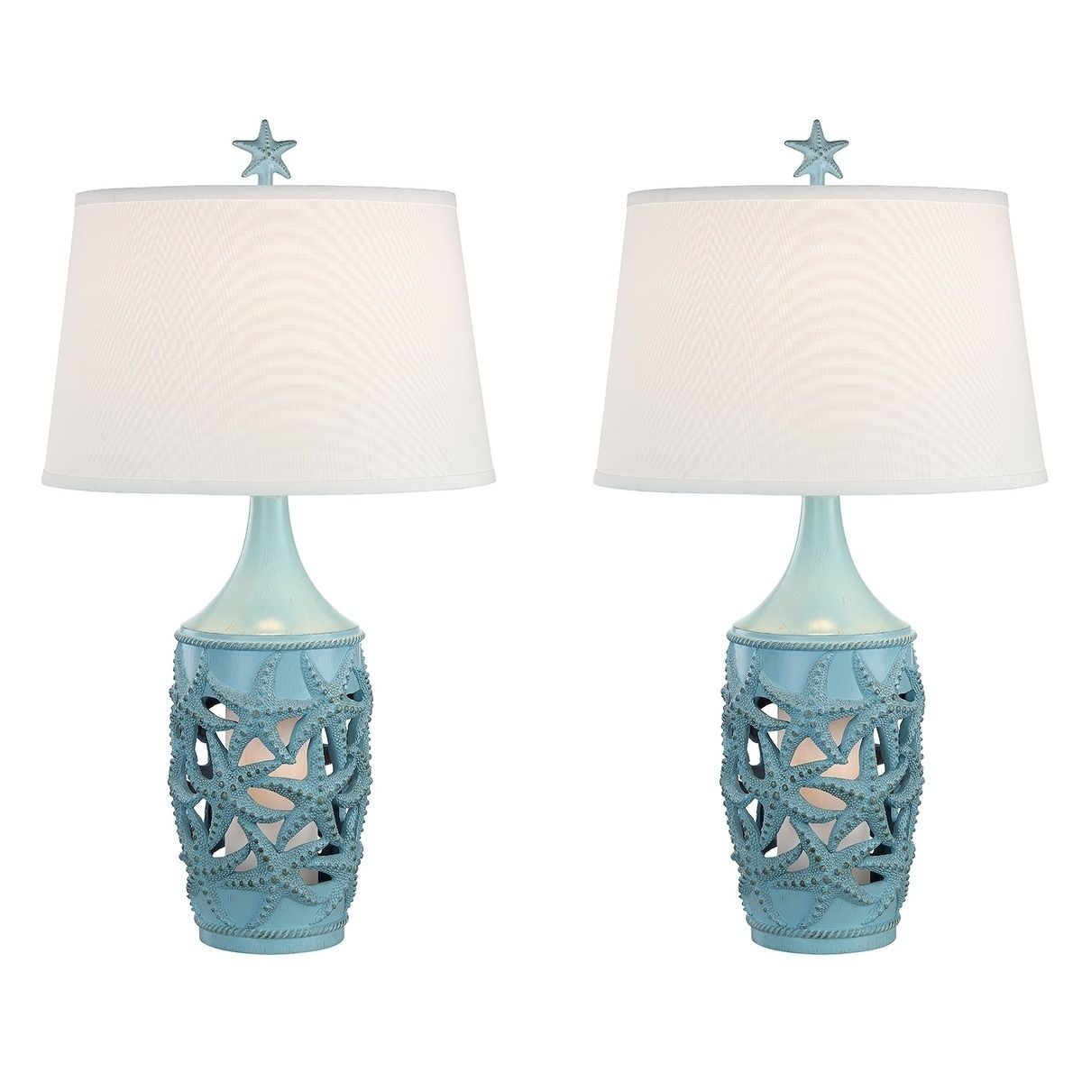 Seahaven Starfish Coastal Table Lamp Glacier Blue Table Lamp