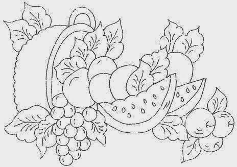 Prendinhas E Mimos Riscos De Pintura Frutas Diversas Com