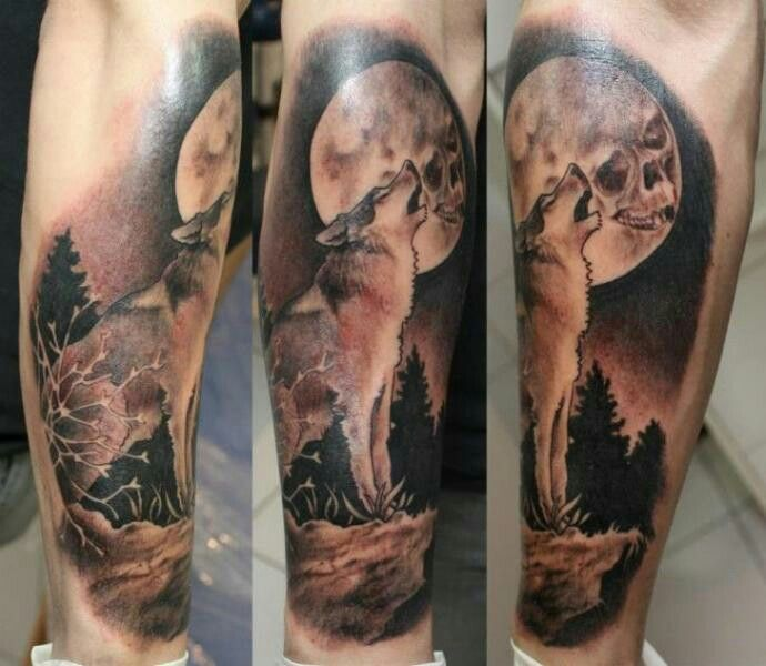 Wolf Tattoos Wolf Tattoo Forearm Tattoos For Guys