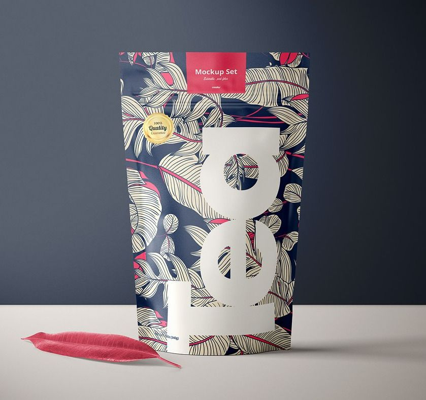 Download Stand Up Ziplock Bag Mockup Set Tea Box Design Bag Mockup Ziplock Bags