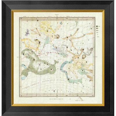 Global Gallery Celestial Anno 1830. No. 1. Sept., Oct., Nov., 1844 Framed Graphic Art on Canvas Size: