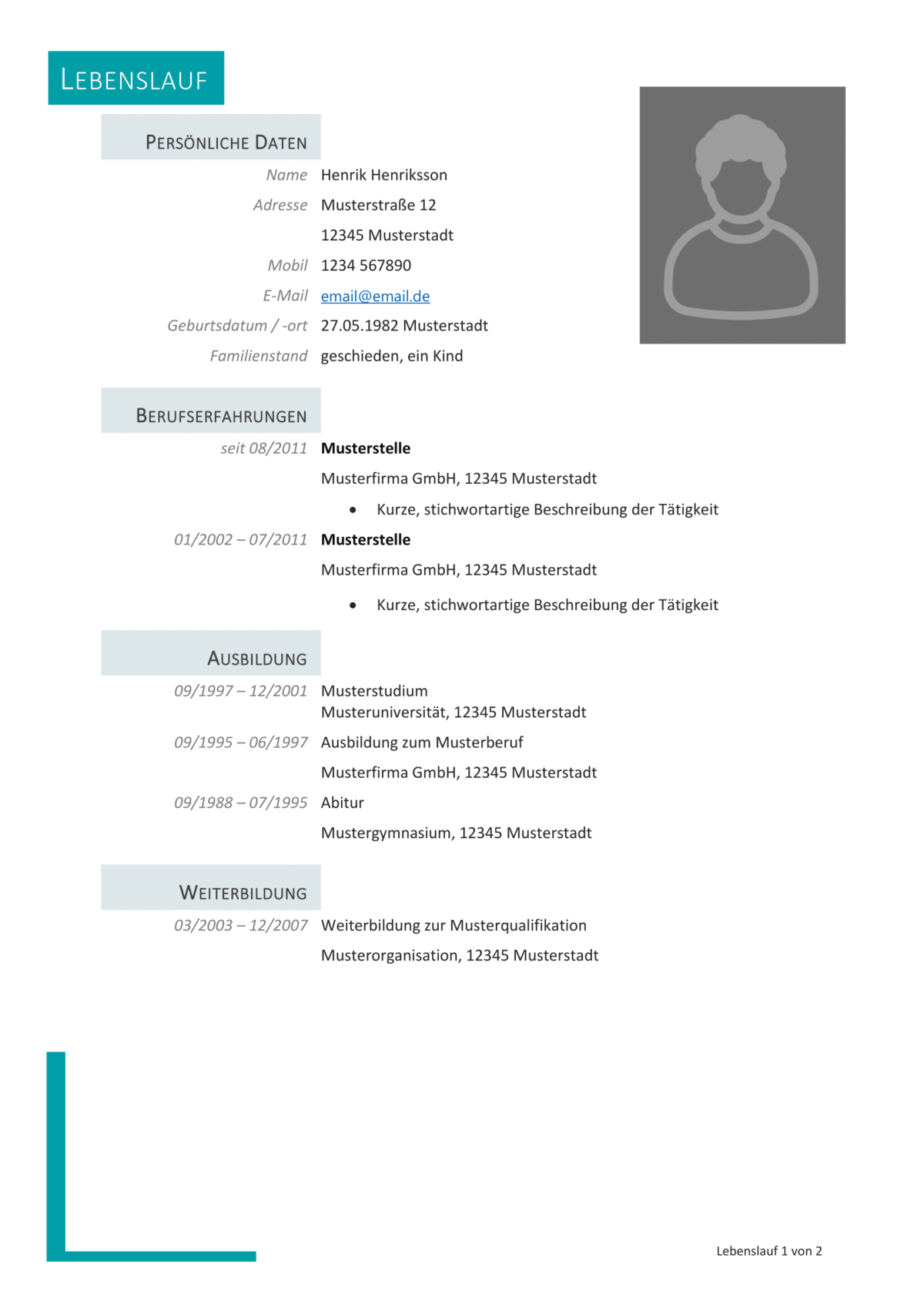 Muster Vorlage Lebenslauf Professionell Resume Words Resume Examples Resume Template Free