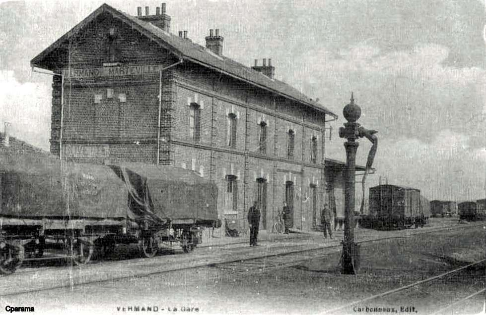 Vermand Marteville 02 Postale Cartes Postales Anciennes Et Gare