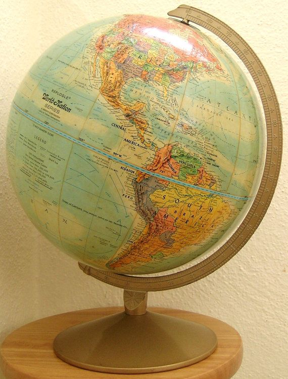 Vintage Replogle 12 World Classic Series Globe Wooden