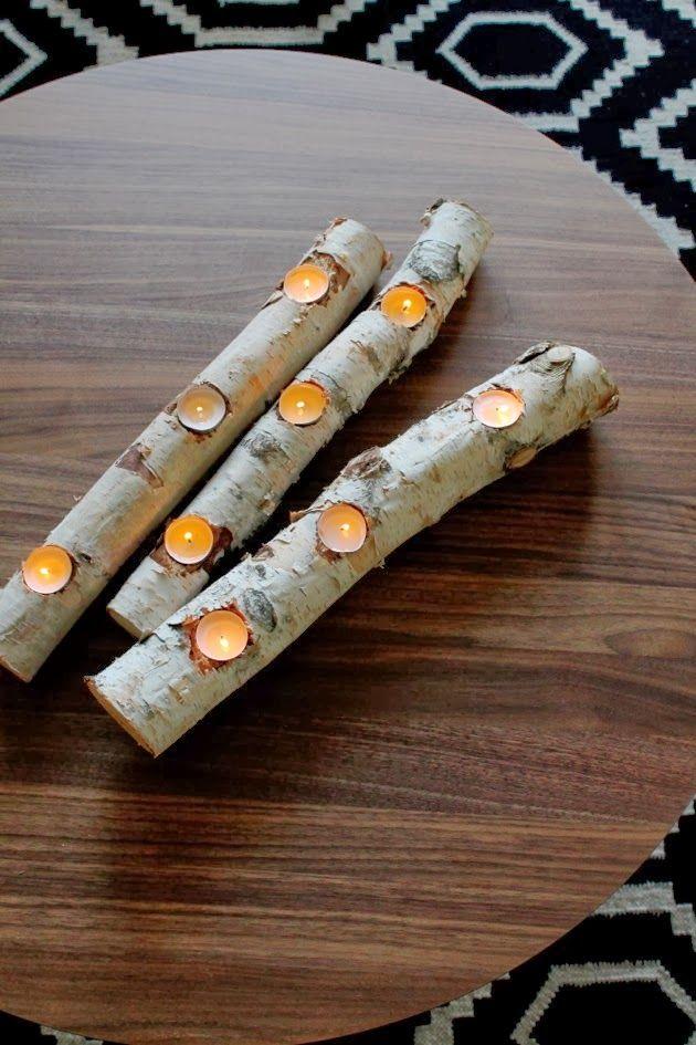 Birch Log Fire Light | Haus, Birch and Logs