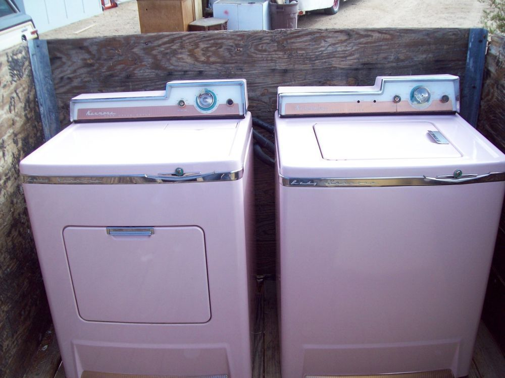 Vintage Pink Lady Kenmore Washer And Dryer