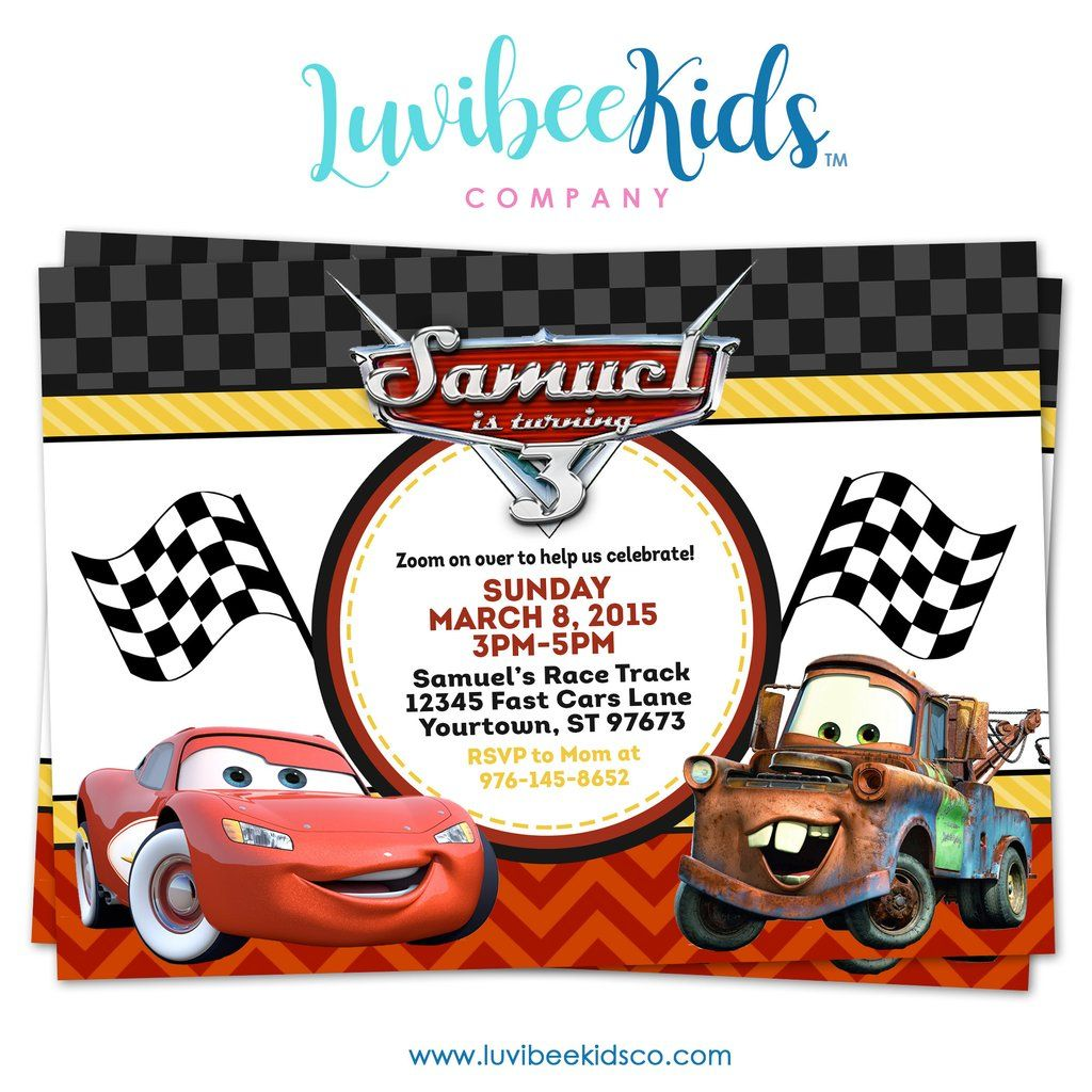 disney cars birthday printables
