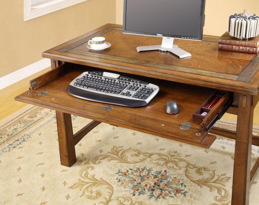 Small Riverside Furniture Craftsman Home Oak Computer Desk Design