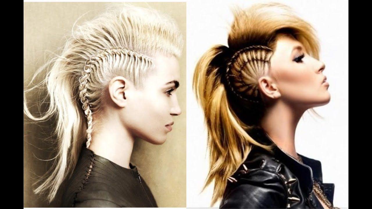 Schöne Youtube Frisuren - Frisur  Mohawk hairstyles, Long hair