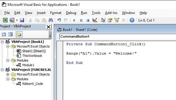 Create a Macro in Excel VBA Developer Tab   Command Button ...