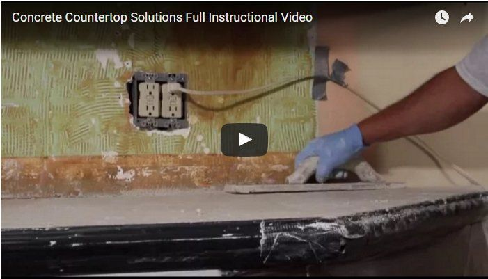 Concrete Countertop Videos Concrete Countertops Concrete
