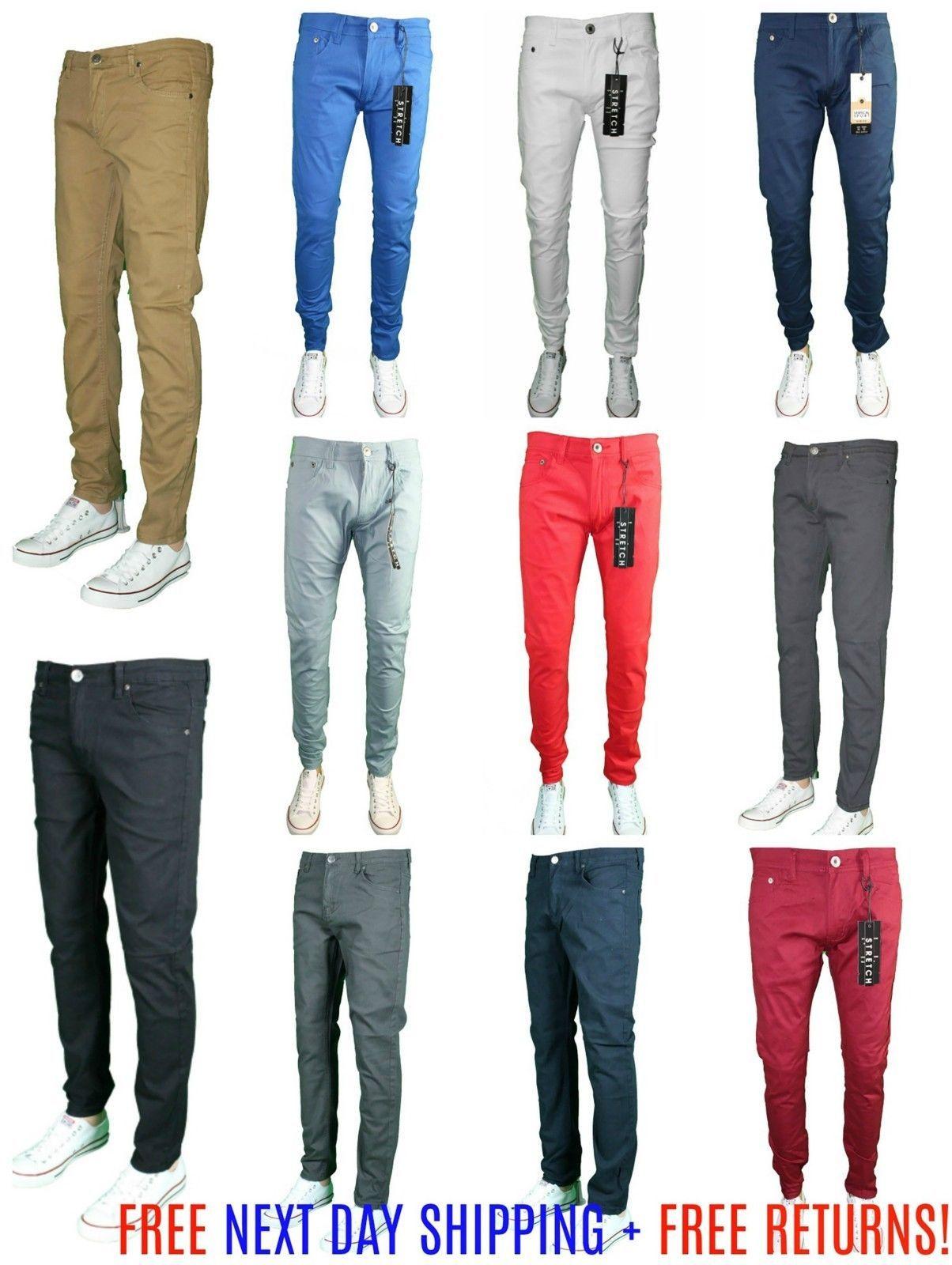 5ff94704a233 Premium Designer Fashion Mens Slim Fit Skinny Stretch Denim Pants Jeans