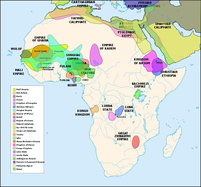 africa map before colonization