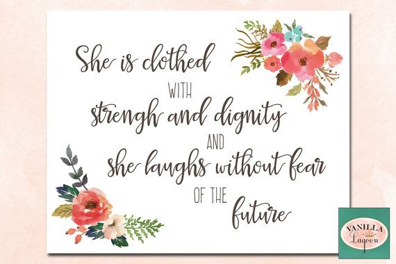 She is Clothed With Strength and Dignity by VanillaLagoon on Etsy