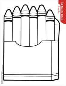 Outline Picture Of A Crayon