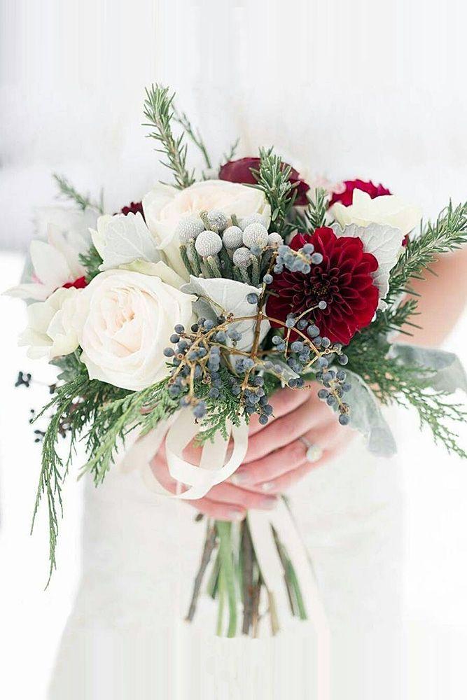 39 Stunning Winter Wedding Bouquets   Winter weddings, Winter and ...