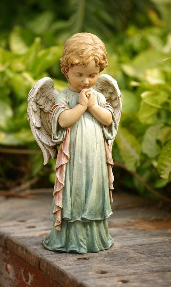 Praying Angel Cherub Pastel Garden Statue Indoor/Outdoor Decor - outdoor angel christmas decorations