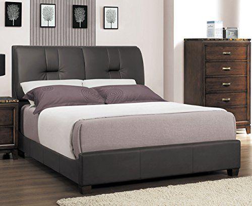 Homelegance 2112PU-1* Upholstered Queen Bed, Dark Brown  http://www.furnituressale.com/homelegance-2112pu-1-upholstered-queen-bed-dark-brown/