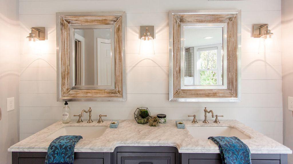 Shiplap How To Install It Bathroom Lighting Design Bathroom Sconces Bathroom Furniture
