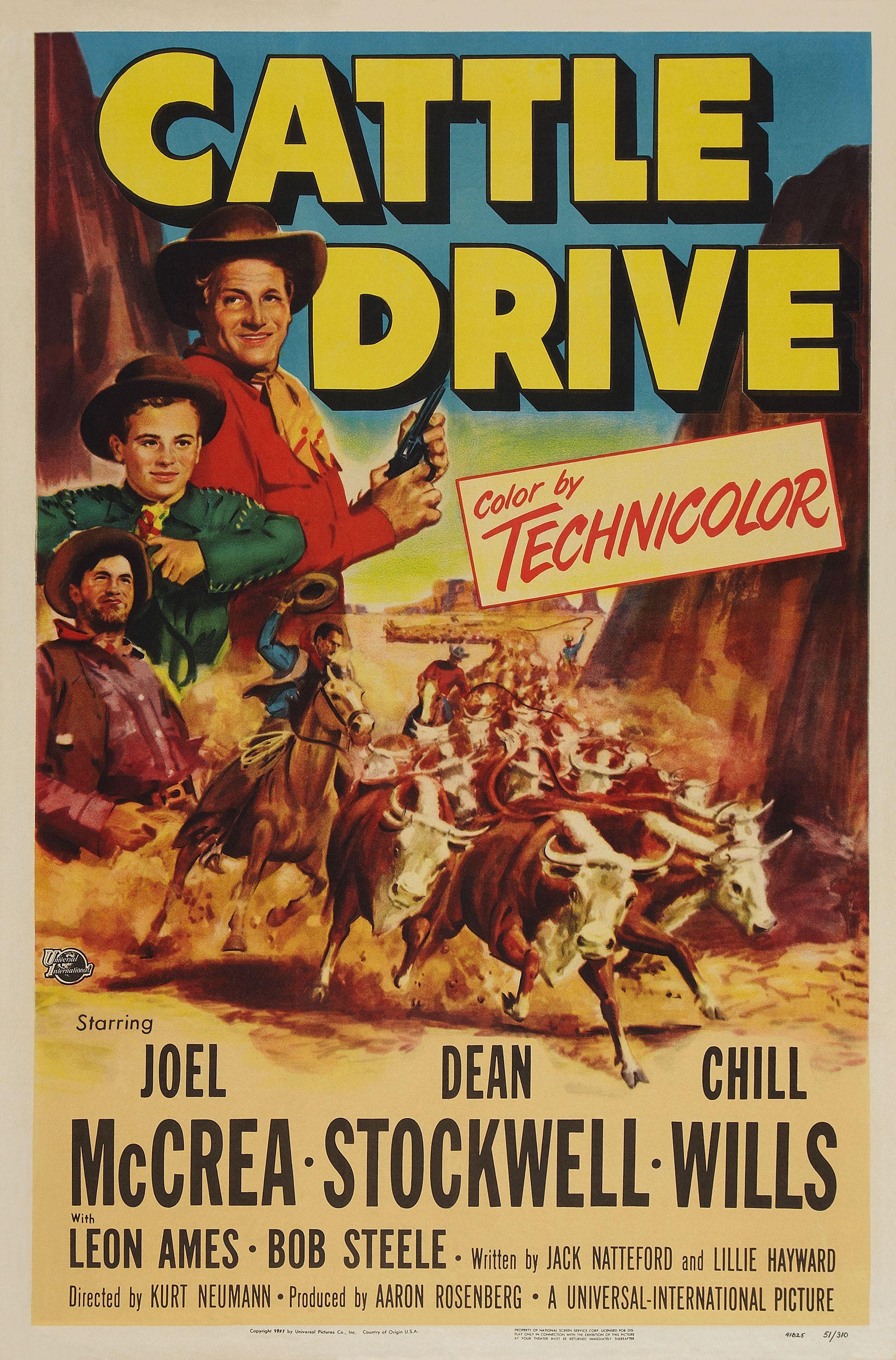 1951 cattle drive western film western movies