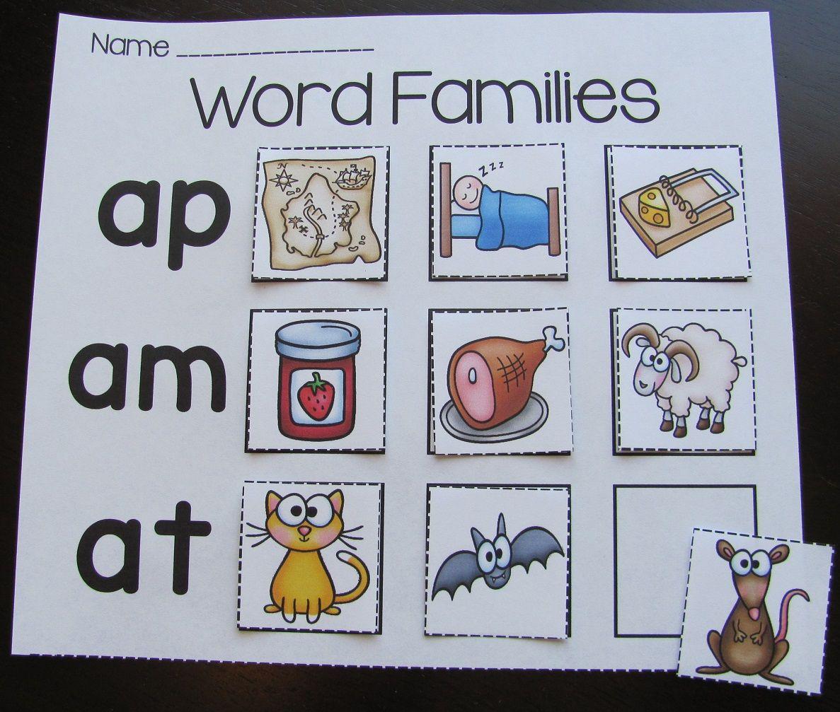 Word Families Worksheets and Puzzles Bundle | Kindergarten Literacy ...