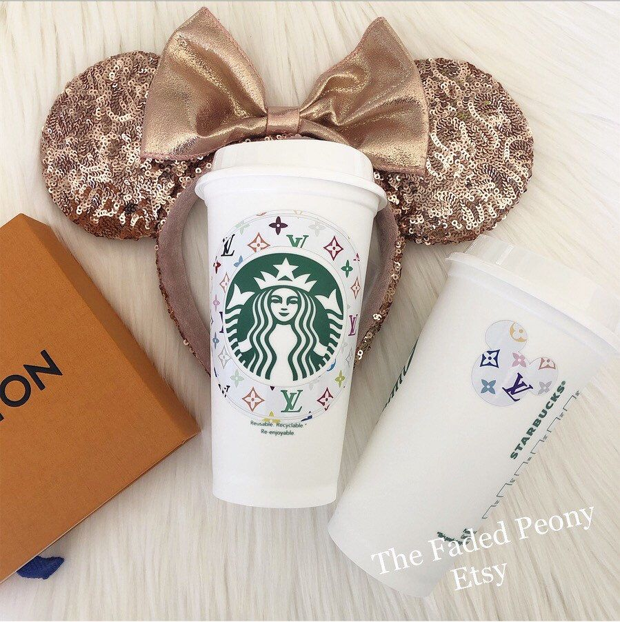 Excited To Share This Item From My Etsy Shop Disney Lv Starbucks Reusable Cup Starbucks Tumbler Custom Starbucks Cups Starbucks Personalized Starbucks Cup
