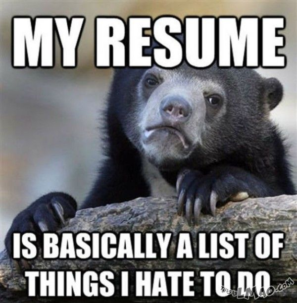 LMAO!!! My resume #resume, #animal, #hate, #things, #work - funny resume