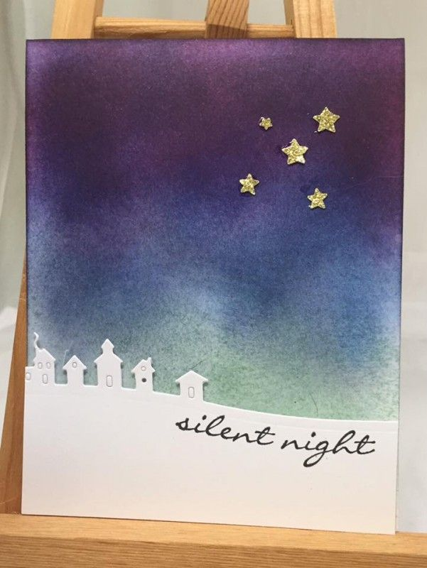 Starry, Silent Night by rgrohall - Cards and Paper Crafts at Splitcoaststampers