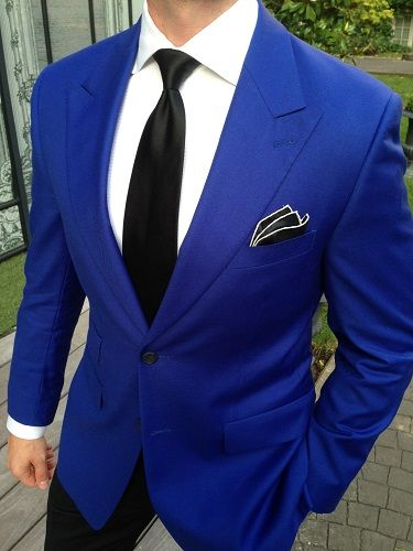 2-Piece Moss 1851 Electric Blue Suit with matching Bespoke ...
