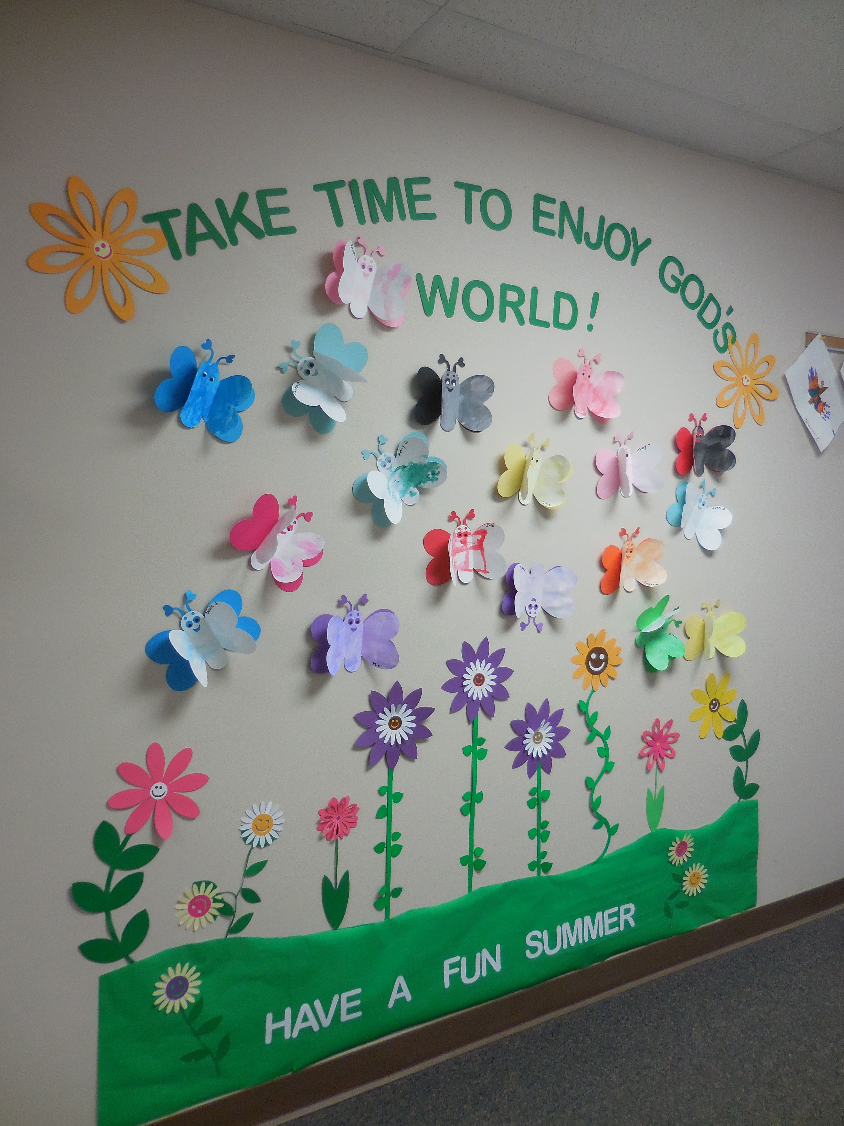 Summer Flowers Butterflies God S World Spring Bulletin Boards