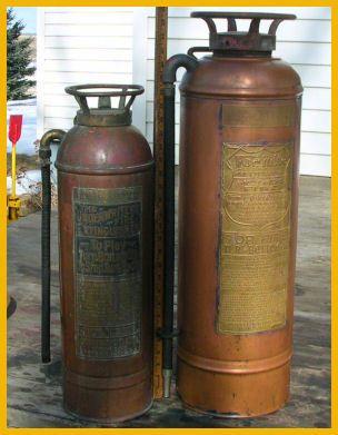 Antique Copper Br Rare Five Gallon Foamite Fire Extinguisher Old 5 Hose Empty Ebay
