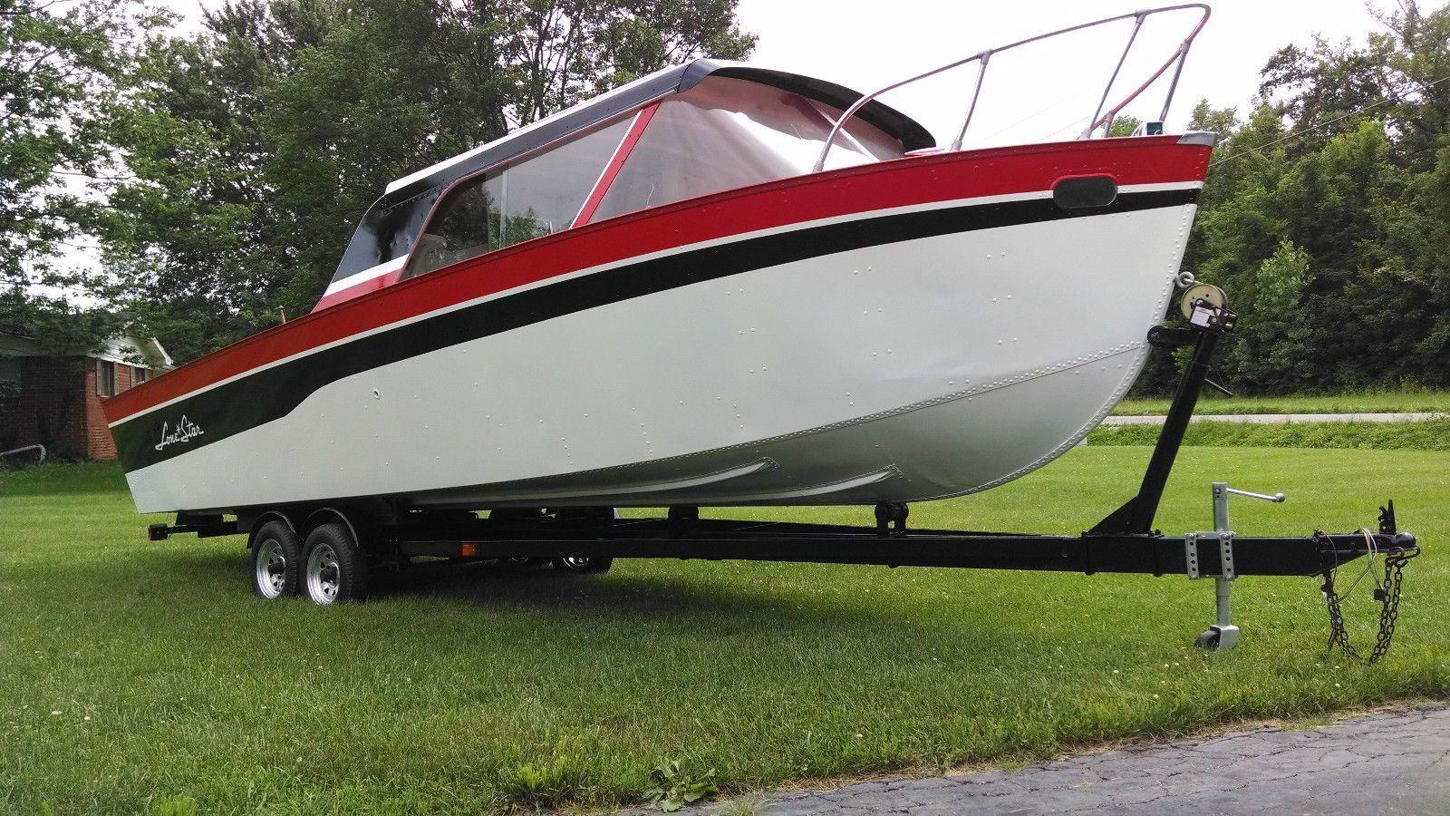 1959 Lonestar Cruisliner Boats For Sale Cabin Cruiser Boat Classic Boats