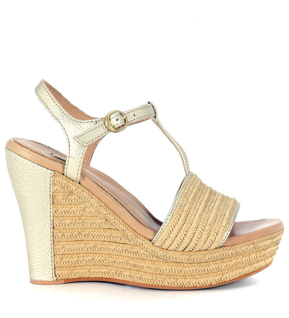 UGG Fitchie Golden Leather Wedge Sandal Sale Get Authentic Free Shipping Genuine Marketable Cheap Price 9DrCQkGc4