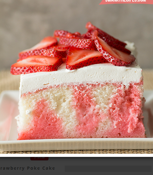 Strawberry Poke Cake - Swanky Recipes