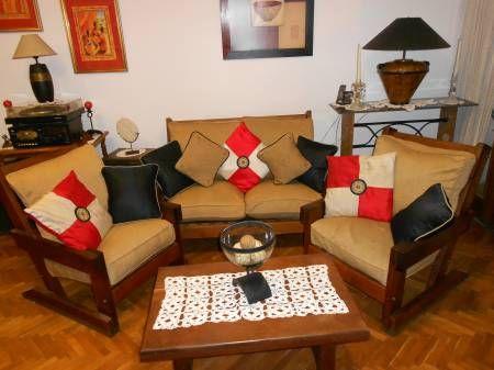 Decoraci n de salas con muebles de algarrobo decoraci n for Living comedor con palet de madera