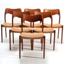 Danish Dining Chairs At The Vintage Shop With Images Vintage