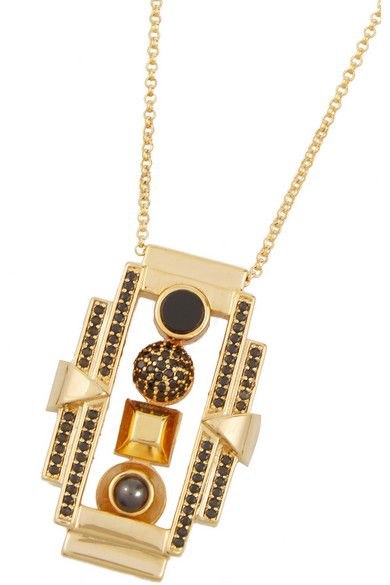 Eddie Borgo | Collage gold-plated multi-stone necklace | NET-A-PORTER.COM