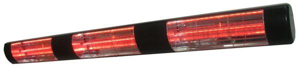 4.5kW Black Dual Wall Mounted Electric Infrared Halogen Patio Heater    Weatherproof Outdoor IP55 Enjoy
