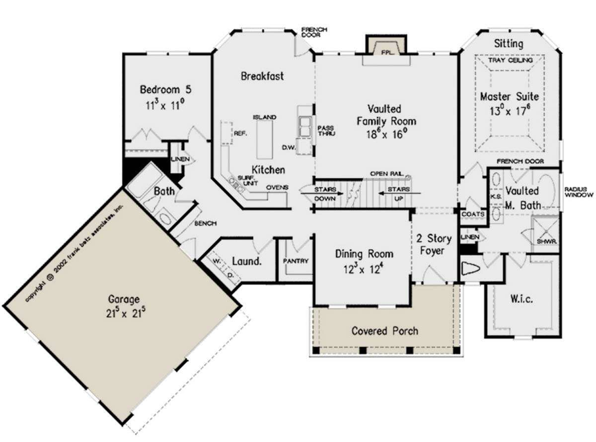 House Plan 8594 00404 Traditional Plan 2 594 Square Feet 5 Bedrooms 4 Bathrooms In 2020 House Plans House Floor Plans Colonial House Plans