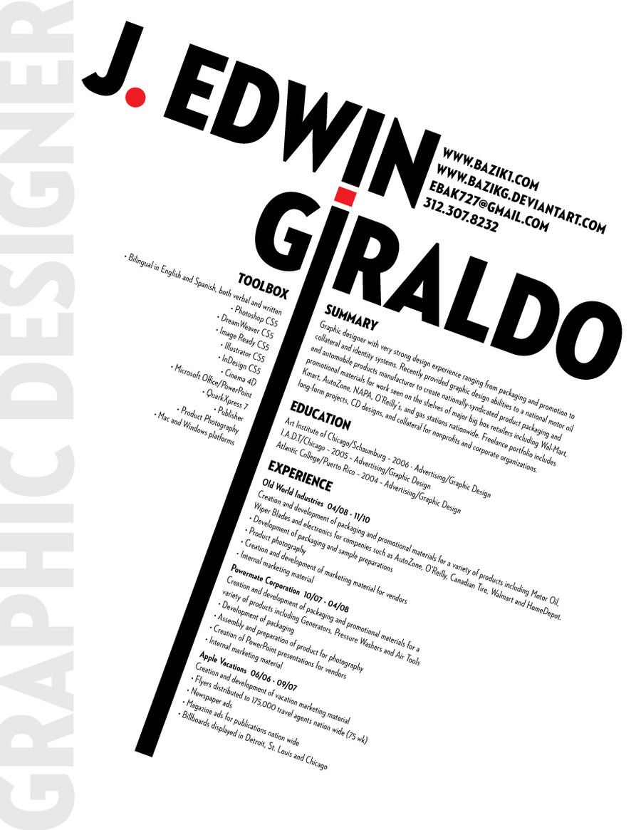 Clean graphics on this resume. | Resumes That Are Creative ...